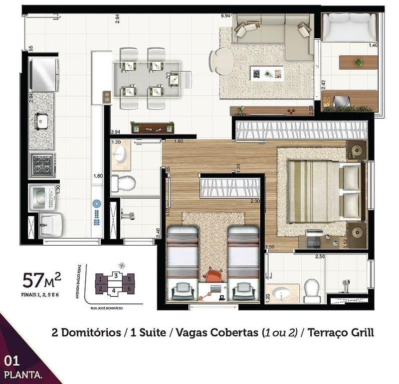 The angle Vila Galvão apartamento