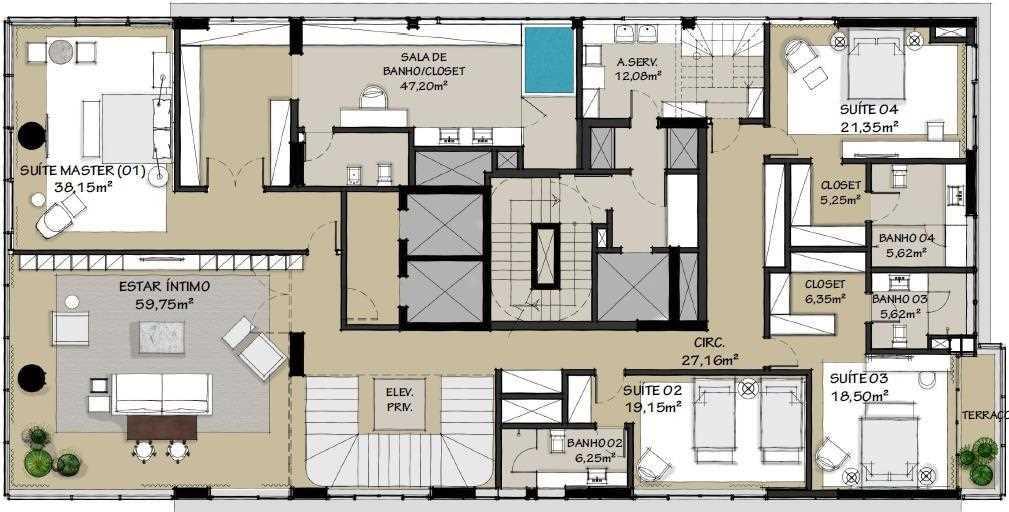Apartamentos The Frame Benx Planta