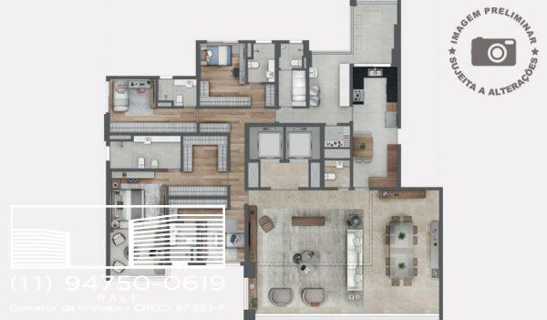 Patrio Ibirapuera Moema apartamentos – Planta Endereço
