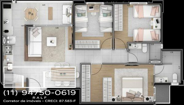Reserva das Flores lançamento 3 apartamentos Guarulhos