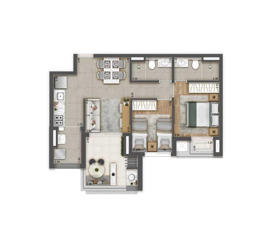 Apartamentos Raizes Planta