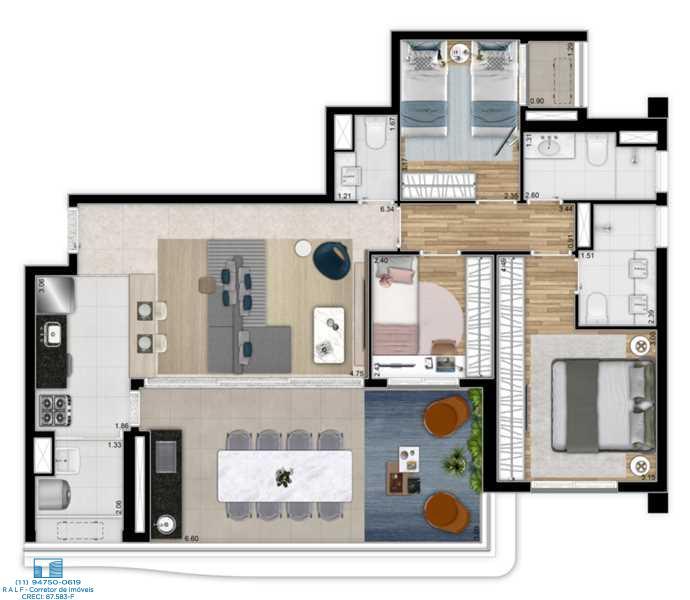 Apartamento Perdizes Lancamento Planta