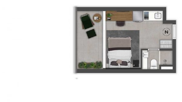 On Augusta Vitacon – Valor Planta Apartamento Studio