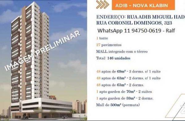 Apartamentos Adib Nova Klabin – lançamento na Zona Sul SP
