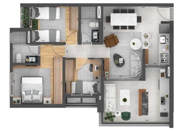 Realta Parque da Mooca – Apartamento Lançamento 2-3 Quartos